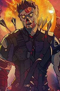 640x960 Hawkeye X Zombie What If 4k