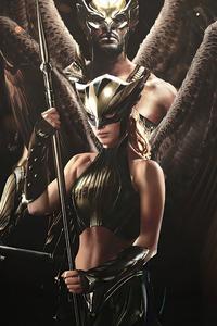 1125x2436 Hawkman And Hawkgirl 4k