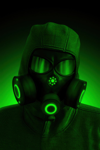 1080x2280 Hazardous Mask Green 5k