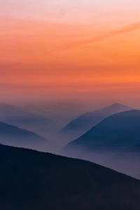 540x960 Hazy Sunset In Olympic National Park 5k