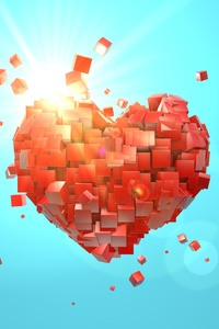540x960 Heart Explosion Love Red Abstract Valentine Day
