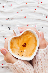 480x854 Heart Shaped Coffee Cup In Hands