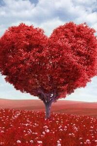 480x800 Heart Tree