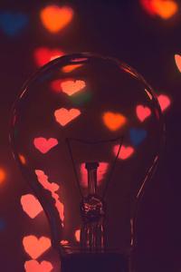 Hearts Light Bulb