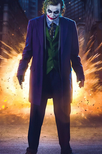 640x960 Heath Ledger Joker Cosplay 4k