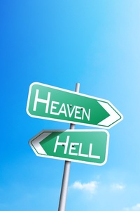 800x1280 Heaven Or Hell Sign Board