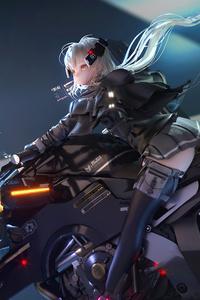 800x1280 Heavily Armed Anime School Girl 5k