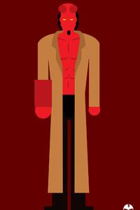 Hellboy 4k Minimalism