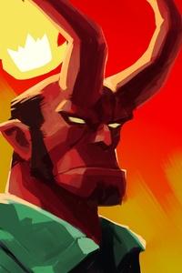 1440x2960 Hellboy Art