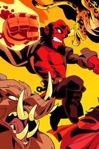 Hellboy Artwork 8k