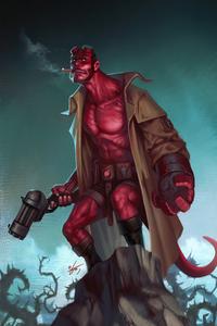 320x480 Hellboy Fanart