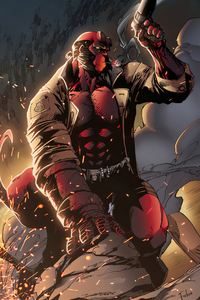 1125x2436 Hellboy Gun
