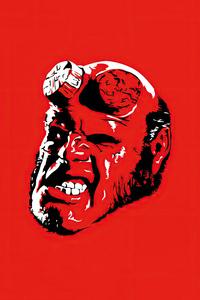 640x960 Hellboy Minimal 4k