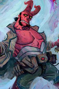 Hellboy Paint Art