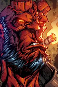 Hellboy Smoker Artwork
