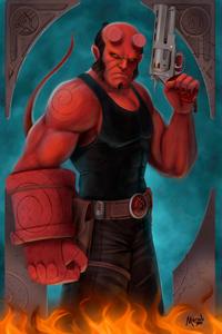 720x1280 Hellboy Tribute 4k