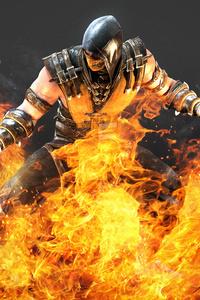 Hellfire Scorpion Mortal Kombat X 5k Artwork
