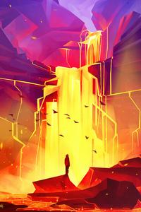 1080x1920 Hells Waterfall 5k