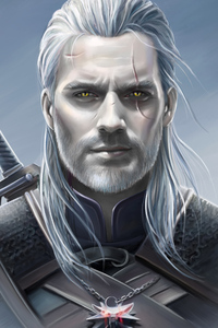 1440x2960 Henry Cavill As Geralt The Witcher