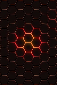 720x1280 Hexagon Geometry 4k