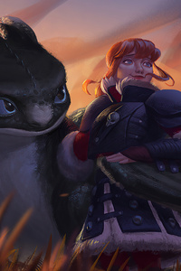 Hiccup And Astrid 4k