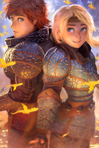 Hiccup And Astrid 5k