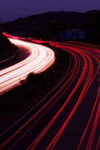 Highway Light Trails Photography 5k