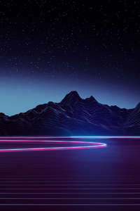 480x854 Highway Retrowave 4k