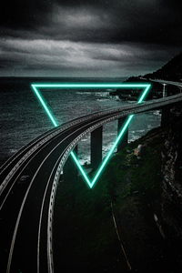 750x1334 Highway Triangle Manipulation 4k