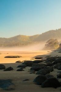 2160x3840 Hill Coast Mist 4k