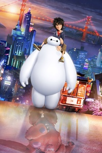 750x1334 Hiro Hamada And Baymax In Big Hero 6