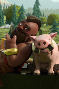 1242x2688 Hog Rider Pig Clash Of Clans