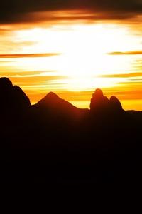 Hoggar Sahara Mountains Sunset