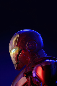 800x1280 Holographic Iron Man 4k 2020