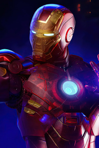Holographic Iron Man 4k