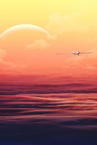 Home World Plane 4k