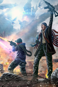 360x640 Homefront The Revolution Game Art 5k