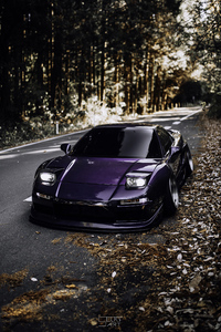 1080x2160 Honda Acura Nsx Purple Colour Modified 4k