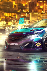 240x400 Honda Colorful Digital Art 4k