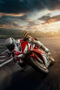 240x400 Honda Motorcycle Track Bike