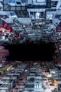 Hong Kong Buildings Worms Eye View