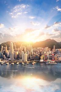 1125x2436 Hong Kong Cityscape