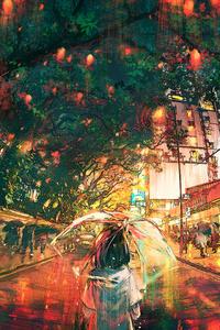 800x1280 Hong Kong Lights 4k