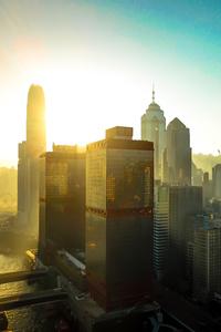Hongkong Buildings Skycrapper City 4k