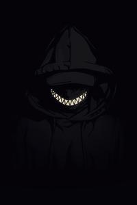 240x320 Hooded Jacket Boy Smiling Minimal Dark 4k