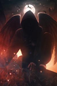 Hoodie Angel 4k