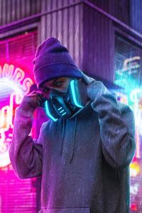 Hoodie Boy Headphones 4k