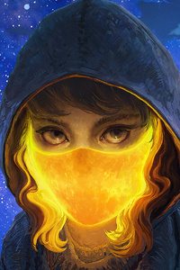 1242x2688 Hoodie Fire Mask