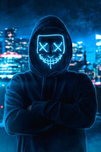 1440x2560 Hoodie Guy Mask Man