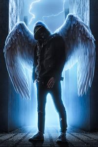 750x1334 Hoodie Guy With Wings